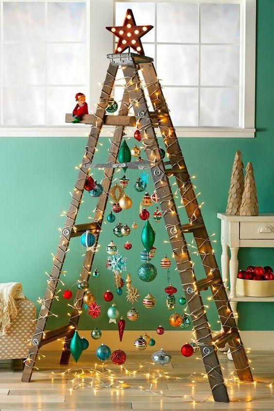 χριστουγεννιατικη διακοσμηση σκαλας